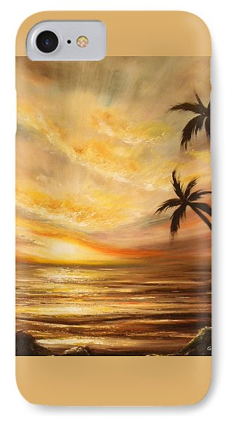 Tropical Sunset 64 Phone Case by Gina De Gorna