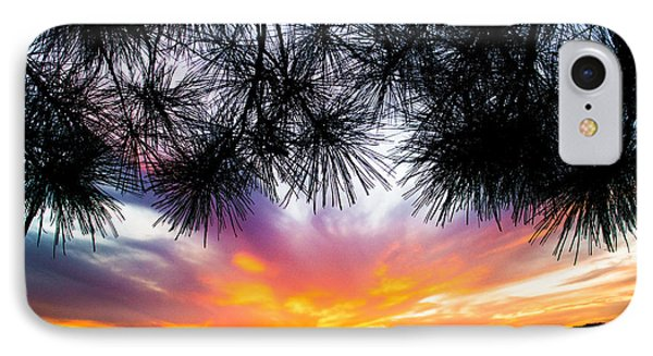 Tropical Sunset  IPhone Case by Parker Cunningham