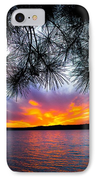 Tropical Sunset Vertical IPhone Case by Parker Cunningham