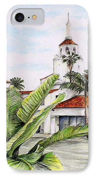Tropical View Arlington Theater Santa Barbara IPhone Case