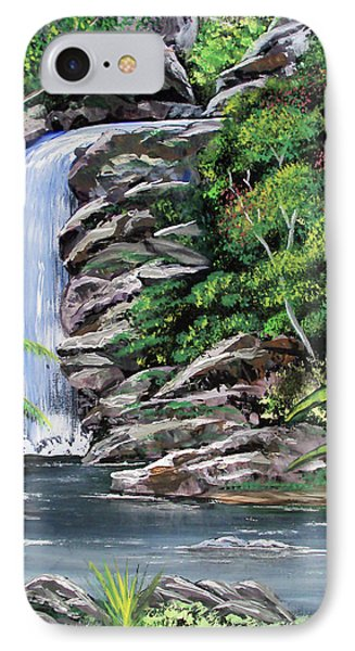 Tropical Waterfall 2 IPhone Case by Luis F Rodriguez