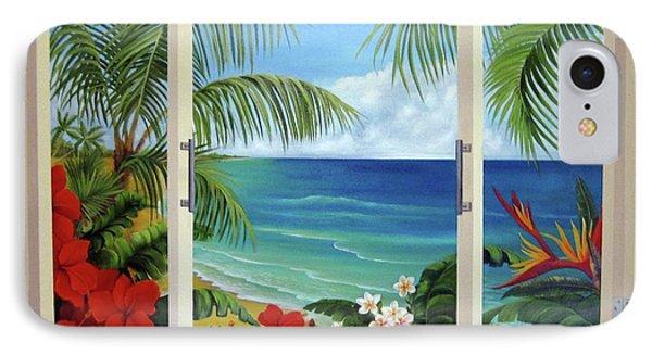Tropical Window IPhone Case by Katia Aho
