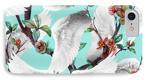 Tropical Wing Floral  IPhone Case