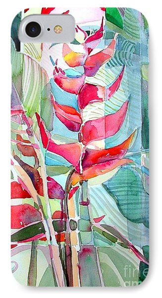 Tropicana Red IPhone Case by Mindy Newman