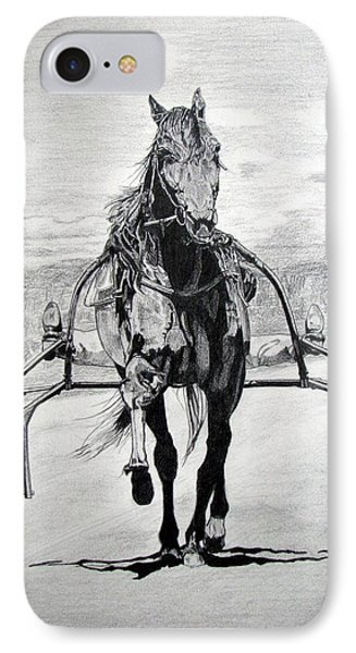 IPhone Case featuring the drawing Trotter by Melita Safran