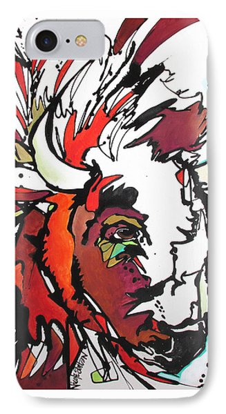 IPhone Case featuring the painting Trouble by Nicole Gaitan