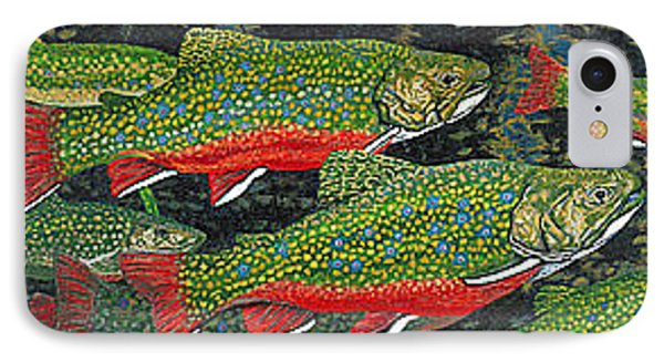 Trout Art Brook Trout Fish Artwork Giclee Wildlife Underwater Phone Case by Baslee Troutman
