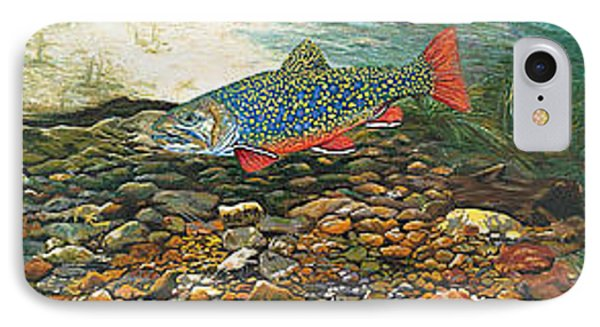 Trout Art Fish Art Brook Trout Suspended Artwork Giclee Fine Art Print Phone Case by Baslee Troutman