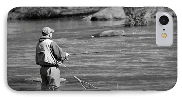 Trout Fishing 1 IPhone Case by Todd Hostetter