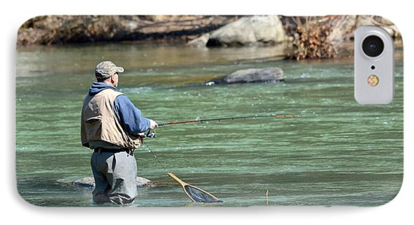 Trout Fishing IPhone Case by Todd Hostetter