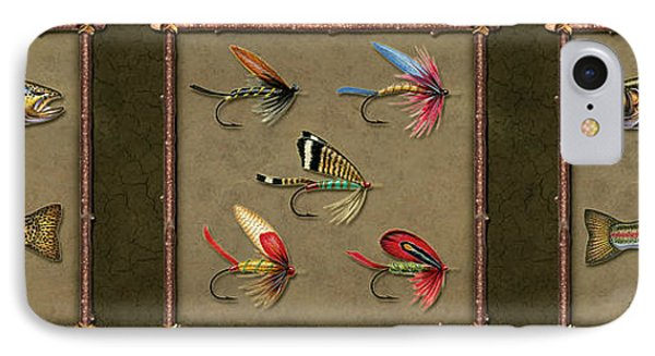 Trout Fly Panel IPhone Case by Jon Q Wright