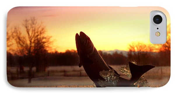 Trout Sunrise Phone Case by Joyce Dickens