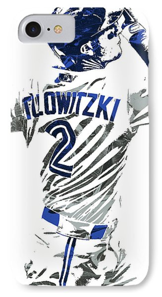 Troy Tulowitzki Toronto Blue Jays Pixel Art 2 IPhone Case by Joe Hamilton