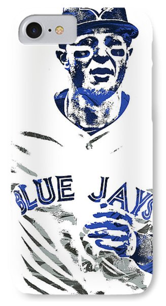 Troy Tulowitzki Toronto Blue Jays Pixel Art IPhone Case by Joe Hamilton