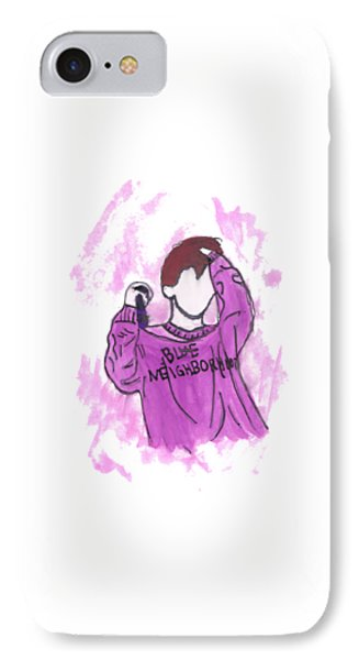Troye Sivan Blue Neighborhood IPhone Case by Lucy Frost