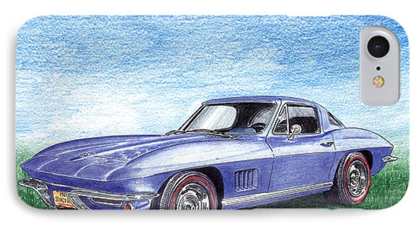 Tru Blu 1967 Corvette Stingray IPhone Case