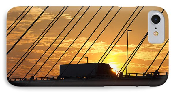 Truck Crossing The Mississippi River IPhone Case by Garry McMichael