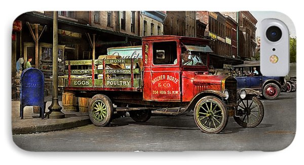 Truck - Home Dressed Poultry 1926 IPhone Case by Mike Savad