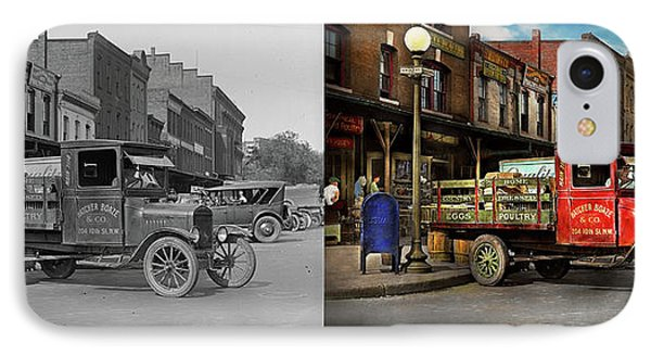 IPhone Case featuring the photograph Truck - Home Dressed Poultry 1926 - Side By Side by Mike Savad