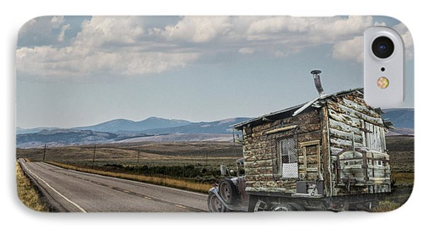 Truck Motor Home Traveling On The Road IPhone Case by Randall Nyhof