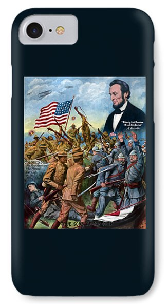 Abraham Lincoln iPhone 7 Case - True Sons Of Freedom -- Ww1 Propaganda by War Is Hell Store