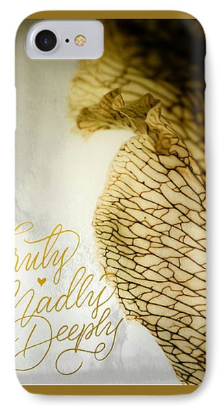 IPhone Case featuring the photograph Truly Madly Deeply by Bobby Villapando