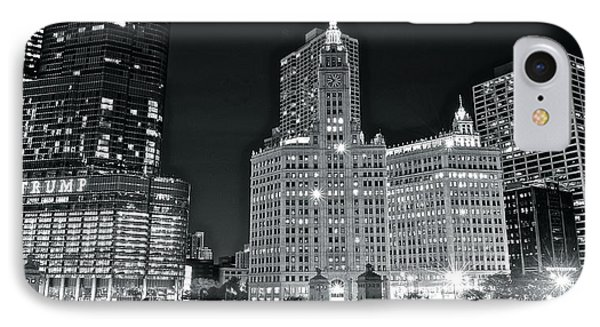 Trump Black And White Lights IPhone Case by Frozen in Time Fine Art Photography