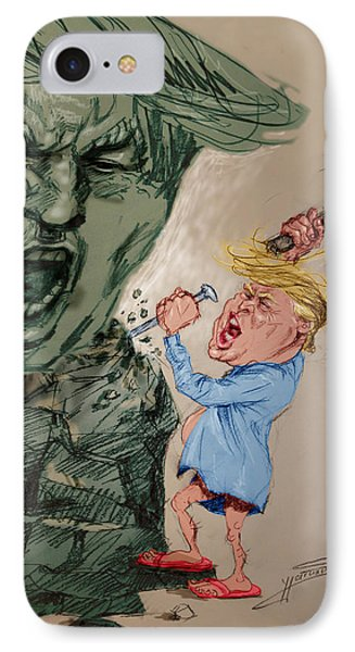 Trump Shaping The Future  IPhone Case by Ylli Haruni