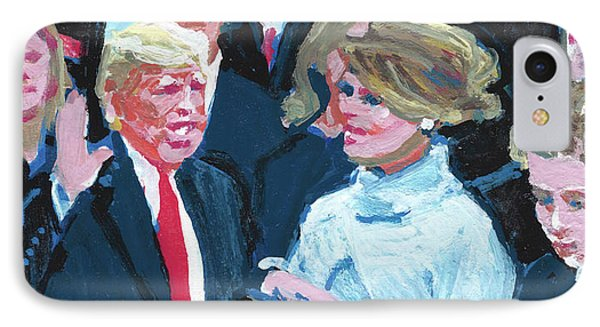 Trump Sworn In As 45th Potus IPhone Case by Candace Lovely