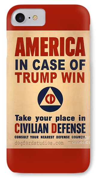 Trump Win Warning IPhone Case by Edward Fielding