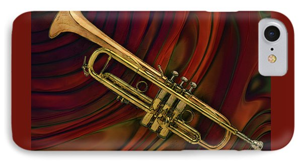 Trumpet 2 IPhone Case by Jack Zulli