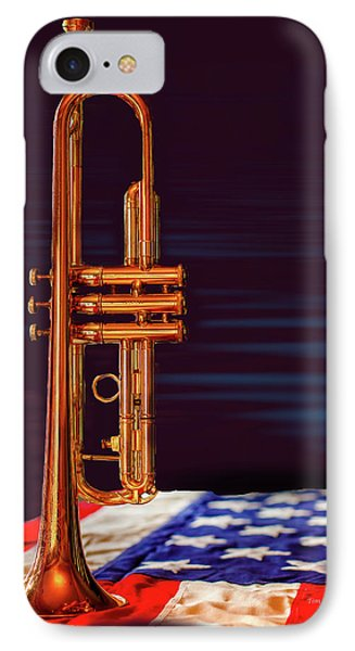 Trumpet-close Up IPhone Case by Tim Bryan
