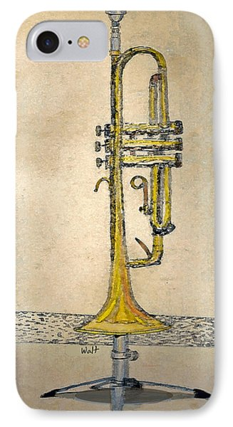 Trumpet IPhone Case by Walter Chamberlain