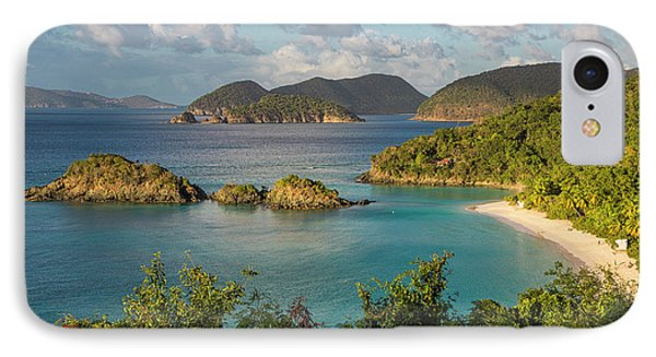 IPhone 7 Case featuring the photograph Trunk Bay Morning by Adam Romanowicz