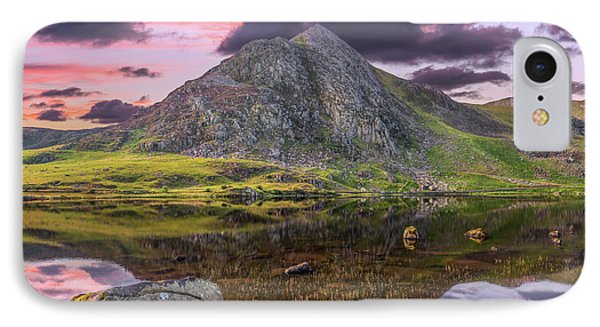 IPhone Case featuring the photograph Tryfan Mountain Sunset by Adrian Evans