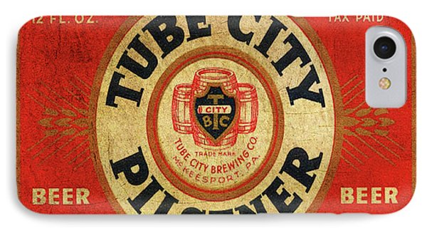 IPhone Case featuring the digital art Tube City Pilsner by Greg Sharpe
