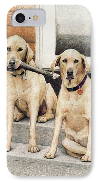 Tucker And Lily Phone Case by Amy S Turner
