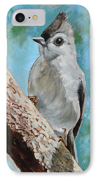 Titmouse iPhone 7 Case - Tufted Titmouse #1 by Amber Foote