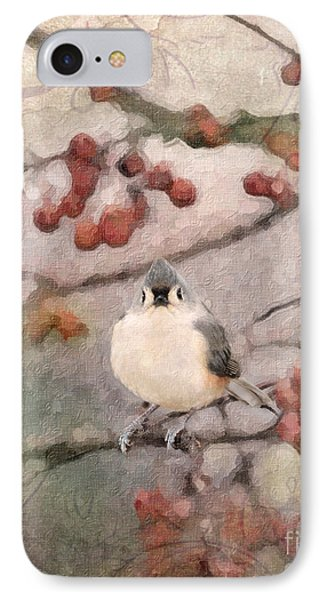 Tufted Titmouse Phone Case by Betty LaRue
