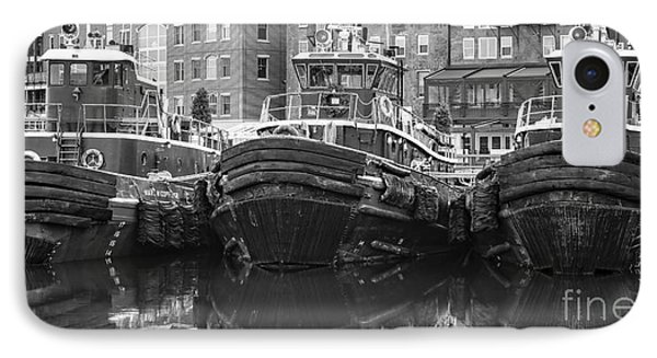 Tug Boat Alley Portsmouth New Hampshire IPhone Case by Edward Fielding