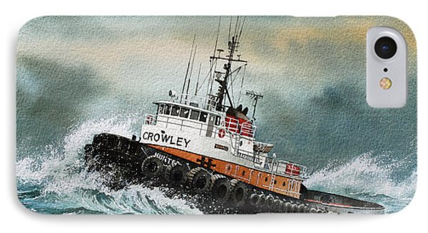 Tugboat Hunter Crowley Phone Case by James Williamson