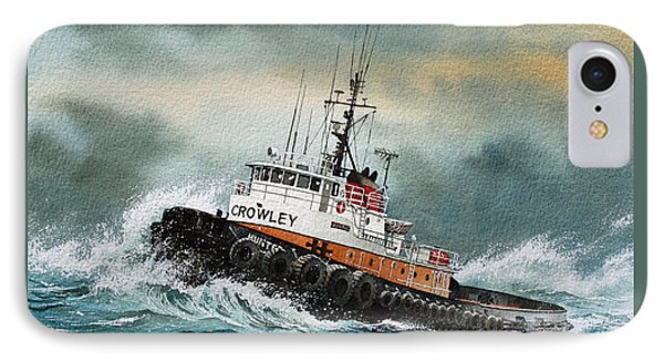 Tugboat Hunter Crowley IPhone Case by James Williamson