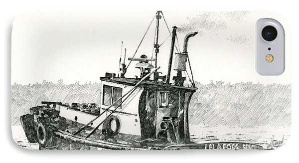 Tugboat Lela Foss Phone Case by James Williamson