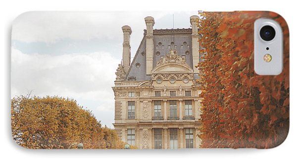 IPhone Case featuring the photograph Tuileries Garden In Fall by Ivy Ho