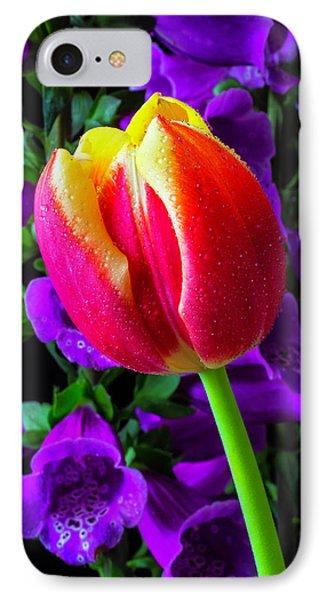 Tulip And Foxglove IPhone Case