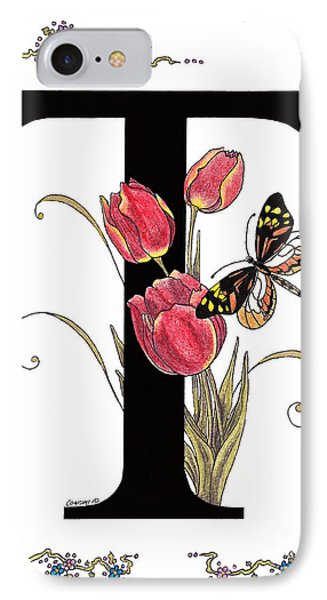 Tulip And Tiger Pierid Butterfly IPhone Case by Stanza Widen