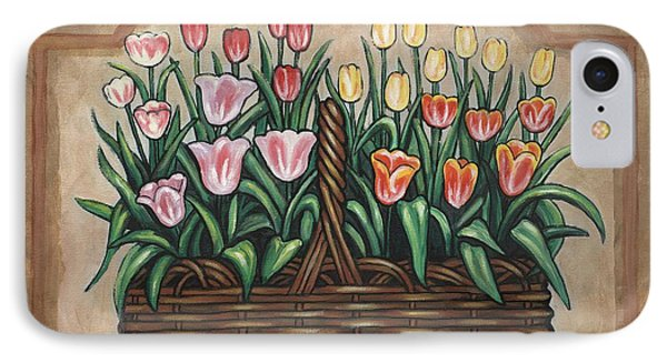 Tulip Basket Phone Case by Linda Mears