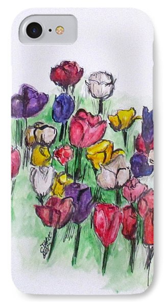 Tulip Bed IPhone Case by Clyde J Kell