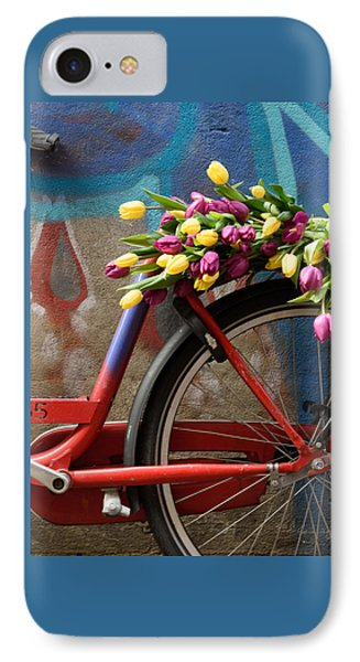 IPhone Case featuring the photograph Tulip Bike by Phyllis Peterson