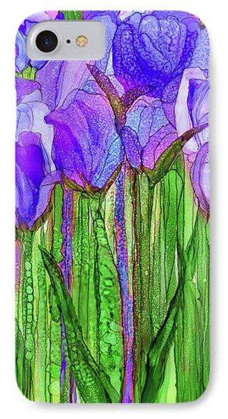 Tulip Bloomies 1 - Purple IPhone Case by Carol Cavalaris